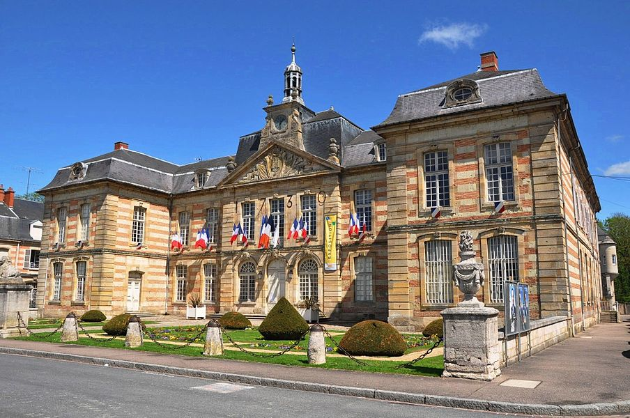 Town hall of Sainte-Ménéhould (Marne, France).