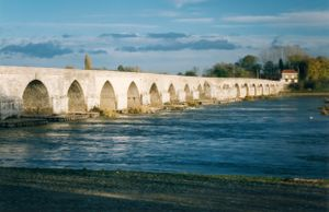 Battle of Beaugency (1429) - The Loire campaign restored French control of strategic bridges.  The one at Beaugency remains operational nearly six centuries after the battle.