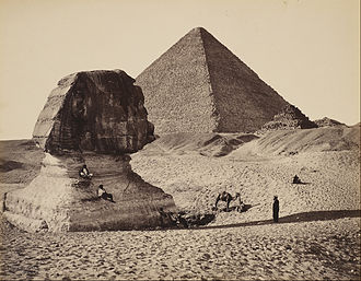 Francis Bedford (photographer) - Sphinx and Egyptian pyramids by Francis Bedford