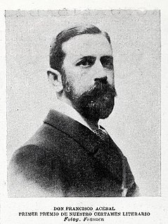 Francisco Acebal Novelist, playwright, journalist