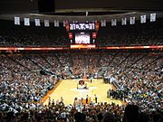 The Frank Erwin Center during a UT basketball game
