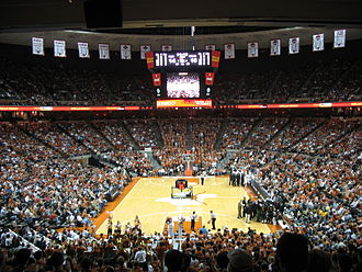Texas Longhorns men's basketball - The Frank Erwin Center during a UT basketball game.