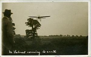Fred C Palmer Salmet-Bleriot monoplane 1912.jpg