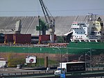 Freighter Whistler moored at the Redpath Sugar Refinery, 2013 05 02 -e.JPG