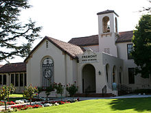 Most of Los Altos is in the Los Altos School District. The area south of  Fremont Avenue is in the Cupertino Union School District.