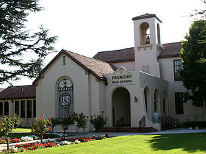 Fremont High School (Sunnyvale, California) - Image: Fremont High School entrance