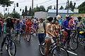 Fremont Solstice Parade 2011 - cyclists prepare 29.jpg