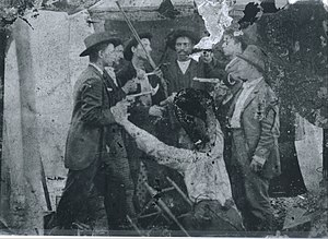 French–Eversole feud - French-Eversole Feud tin type (media recreation taken about 1890 after the Battle of Hazard) Eversole clan on the left, French clan on the right