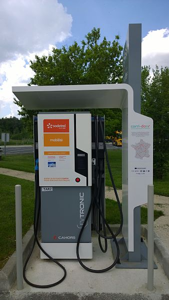 French electric charging station