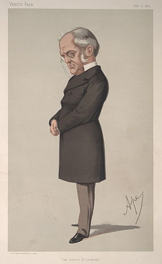 "Max Müller - 1875 ''Vanity Fair'' caricature of Müller confirming that, at the age of fifty-one, with numerous honours, he was one of the truly notable ""Men of the Day""."