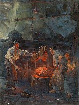 Friedrich von Keller - In the Hammer Mill