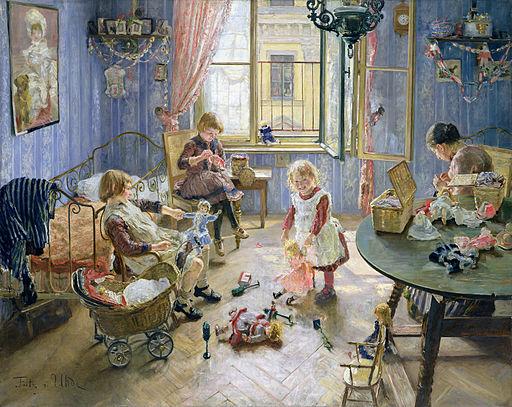 Fritz Uhde Pokój dziecinny (1889)