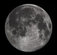 2010 年喺美國阿拉巴馬州影到嘅望月(滿月)影像