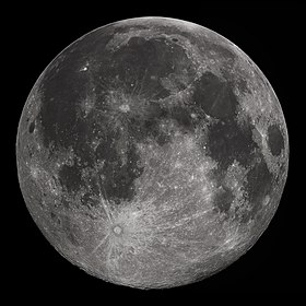 Full moon in the darkness of the night sky. It is patterned with a mix