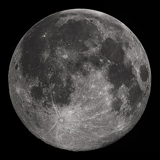 Moon - Full moon seen from North America