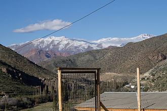 Ovalle - The Andean Mountains as seen from Fundina, Ovalle, Chile.