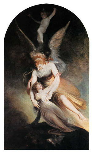Sir Brooke Boothby, 6th Baronet - Henry Fuseli, The Apotheosis of Penelope Boothby, 1792