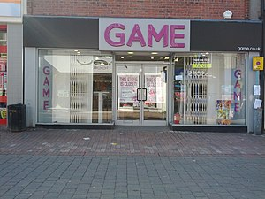 Game (retailer) - One of 277 Game UK stores affected by the company entering Administration