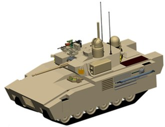 Infantry fighting vehicle - Typical configuration of a tracked Infantry Fighting Vehicle