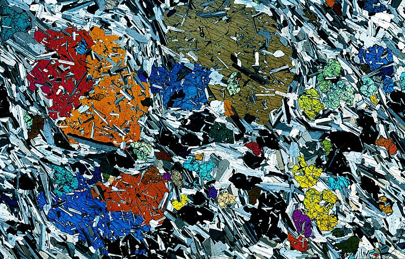 File:Gabbro from Rum in Scotland - Thin Section.jpg