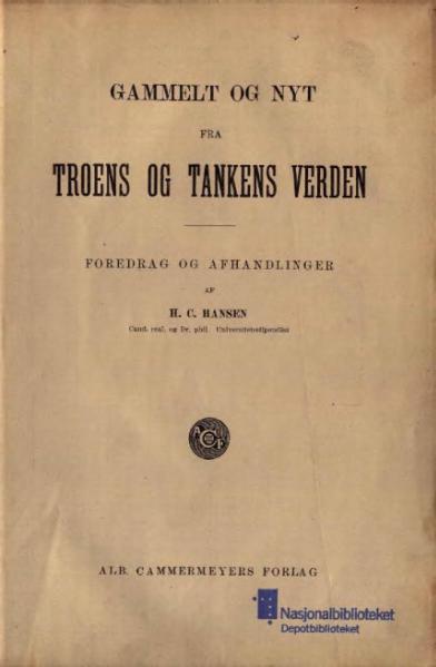 File:Gammelt og Nyt fra Troens og Tankens Verden.djvu
