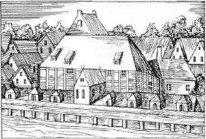 Oper am Gänsemarkt - Early 18th-century engraving of the opera house