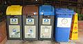 Garbage bins at Polytechnic University, Hong Kong.JPG