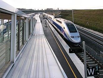 Gare de Belfort – Montbéliard TGV - TGV Duplex at Belfort – Montbéliard TGV railway station