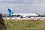Garuda Indonesia (PK-GPQ) Airbus A330-243 departing Sydney Airport.jpg