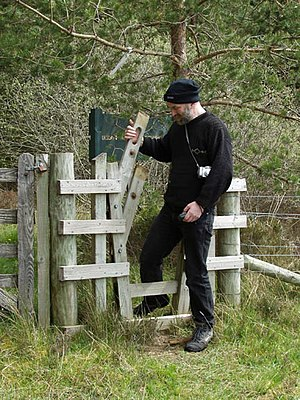 English: Gate. On the way to the geocache we f...
