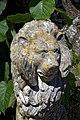 Gate lion sculpture at the Walled Garden of Parham House, West Sussex, England 01.jpg