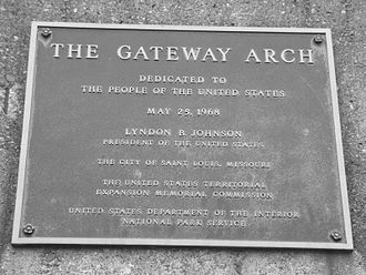 Gateway Arch - The dedication plaque