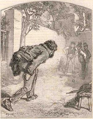 Lawn game - Image: Gavarni Le joueur de boules 1858