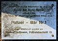 Gedenktafel Charlottenburger Chaussee 75 (Spand) Polizei Bär.jpg