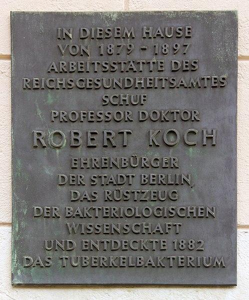 File:Gedenktafel Luisenstr 57 Robert Koch.JPG