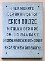 Gedenktafel Pistoriusstr 28 (Weiß) Erich Boltze.jpg