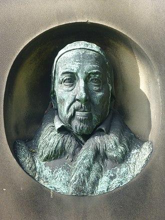 George Buchanan - Detail on the Buchanan memorial in Greyfriars Kirkyard, Edinburgh
