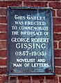 George Gissing Tablet - geograph.org.uk - 1048553.jpg