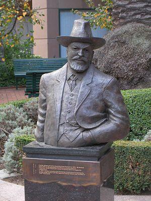 George Adams (businessman) - Statue of George Adams on St Kilda Road, Melbourne