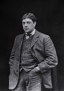 Georges Braque, 1908, photograph published in Gelett Burgess, The Wild Men of Paris, Architectural Record, May 1910.jpg