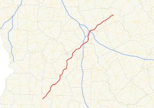 Georgia State Route 49 - Image: Georgia state route 49 map