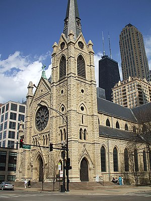 Holy Name Cathedral (Chicago) - Image: Gerald Farinas Holy Name Cathedral from Street
