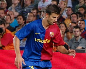 Gerard Piqué - Piqué during the 2008 Joan Gamper Trophy.