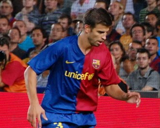 Gerard Piqué - Piqué during the 2008 Joan Gamper Trophy