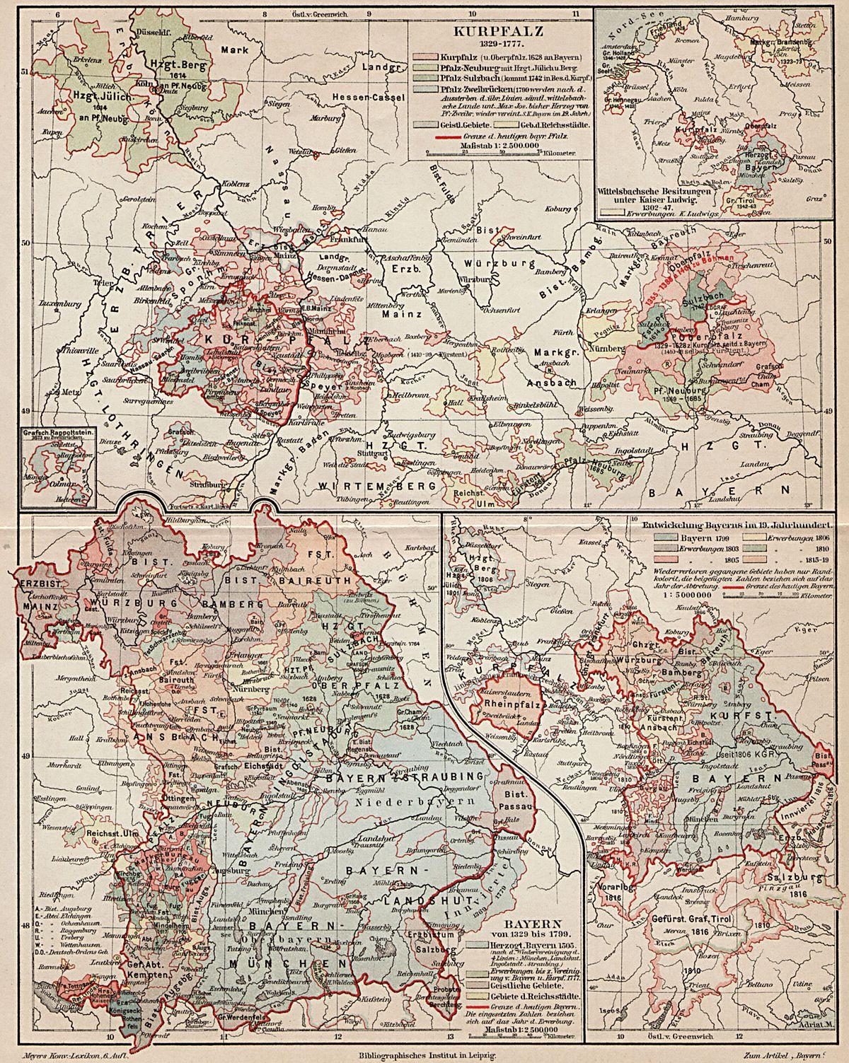 File Geschichtskarte Bayern Kurpfalz Jpg Wikimedia Commons