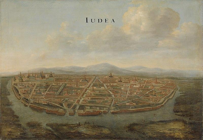 Gezicht op Judea, de hoofdstad van Siam Rijksmuseum SK-A-4477.jpeg
