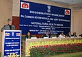 Ghulam Nabi Azad addressing at the National Dissemination workshop of 5th Common Review Mission (CRM) and 8th Joint Review Mission (JRM) of the National Rural Health Mission (NRHM).jpg