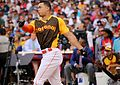 Giancarlo Stanton competes in semis of '16 T-Mobile -HRDerby. (28574679095).jpg