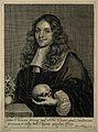 Gideon Harvey. Line engraving by P. Philippe, 1663. Wellcome V0002585.jpg