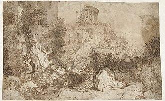 Gillis van Valckenborch - Temple of Sybil in Tivoli